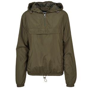 Urban Classics - Ladies Basic Pull Over Jacket TB2013 darkolive Damen Windbreaker Regenjacke Größe M