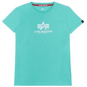 Alpha Industries Damen New Basic T-Shirt pastel mint M