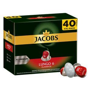 Jacobs Lungo 6 Classico XXL-Pack | 40 Nespresso® komp. Kapseln