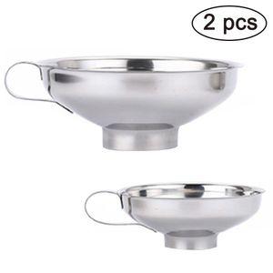 2 Stück Edelstahl Trichter Einfülltrichter Marmeladentrichter Einmachtrichter Set für die Übertragung von Flüssigkeit Öl Marmelade Pilvern Bohnen