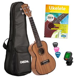 Cascha HH 2036 NL Premium Mahogany concert ukulele set (Dutch)
