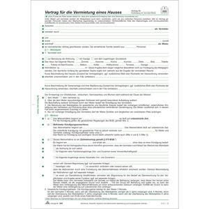 RNK Vertrag zur Vermietung eines Hauses, 4 Seiten, gefalzt auf DIN A4 + Hausordnung