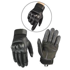 Alle Wetter Motorrad Motorrad Handschuhe Touchscreen Volle Finger Handschuhe XL Schwarz