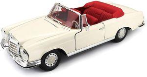 Maisto 531811 - Modellauto - Mercedes 280SE Cabrio '66 (creme, Maßstab 1:18)