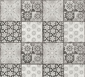 A.S. Création Fliesentapete Il Decoro Vliestapete grau schwarz weiß 10,05 m x 0,53 m
