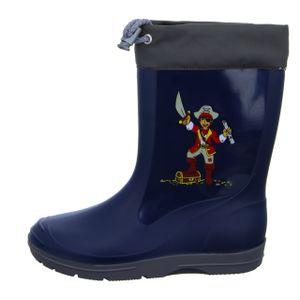 Sneakers Jungen-Gummistiefel Pirat Blau, Farbe:blau, EU Größe:28
