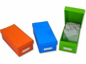 3x Lernbox Karteikasten DIN A8 verschiedene Farben + 1200 Karteikarten