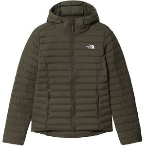 The North Face W Stretch Down Hoodie New Taupe Green M
