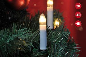 Lichterkette mit 20 LEDs Weihnachtsbaum Tannenbaum Christbaum Beleuchtung