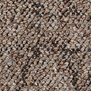 Teppichboden, Auslegware, Meterware, 400 cm x 100 cm, braun, Schlinge