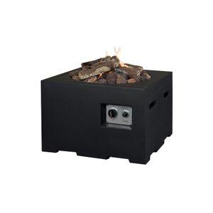 Mania Cocoon Feuertisch schwarz klein quadratisch 60x60 cm