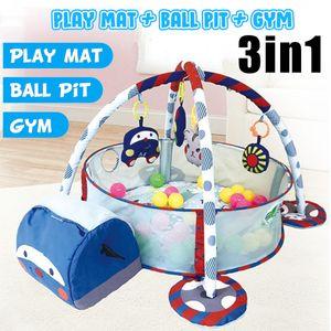 3 In 1 Baby Spielmatte Runde Cartoon Krabbeldecke Säuglingsspiel Pad Spielteppich Kinder Aktivitätsmatte