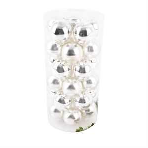 Weihnachtskugel Premium 30er Set Glas 6cm silber
