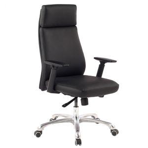 AMSTYLE Bürostuhl PORTO Echt-Leder Schwarz ergonomisch mit Kopfstütze | Design Chefsessel Schreibtischstuhl ergonomisch mit Wippfunktion | Drehstuhl mit Armlehnen X-XL 120 kg