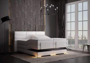 Roma Boxspringbett elektrisch Weiß Kunstleder 160 x 200 cm