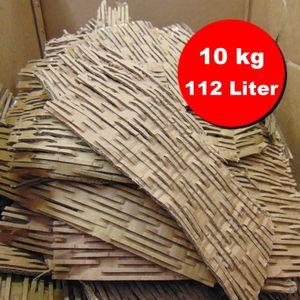 Verpackungsmaterial / Füllmaterial / Packpolster / Pappschreder aus geschredderten Kartonagen, ideale Polstereigenschaften - 112 Liter, 10 kg