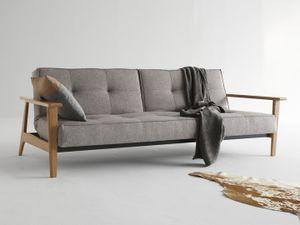 Innovation Splitback Frej Schlafsofa 3-Sitzer - 216 Textil Dark Grey Flashtex. 216