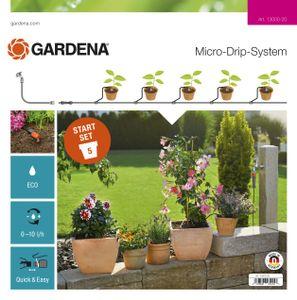 GARDENA Micro-Drip-System Start-Set Pflanztöpfe S 13000-20