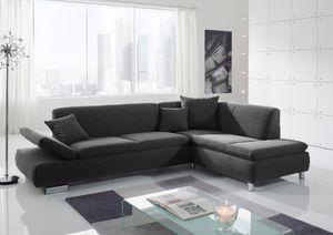 Max Winzer Terrence Sofa 2,5-Sitzer links mit Ecksofa rechts - Farbe: schwarz - Maße: 270 cm x 190 cm x 76 cm; 2920-263-1643740-MET