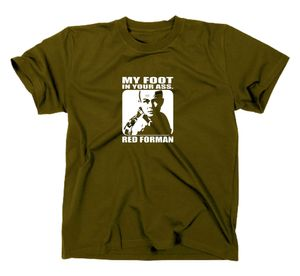 Styletex23 T-Shirt Die wilden Siebziger Red Forman, Oliv, L