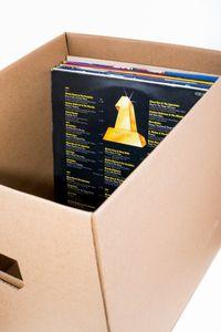 Transport, Umzug, Stapel und Aufbewahrungs Karton Box für z.b. Schallplatten, Ordner und vieles mehr