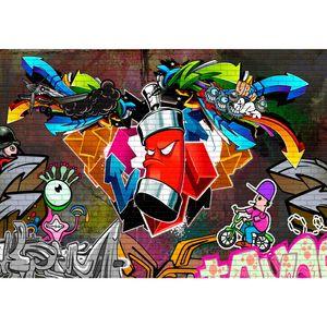 Graffiti 9063a RUNA Graffiti VLIES FOTOTAPETE XXL DEKORATION TAPETE− WANDDEKO 396 x 280 cm