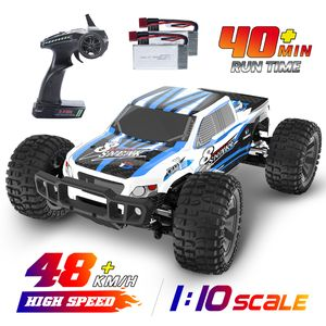 DEERC Ferngesteuertes Auto   4WD Offroad Monstertruck 1:10 Hochgeschwindigkeits-Fernsteuerwagen, 48+ KM/H mit 2 Batterien 9200E