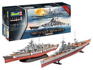 Revell 05174 1:700 & 1:720 Battle Set HMS HOOD vs. BISMARCK- 80th Anniversary