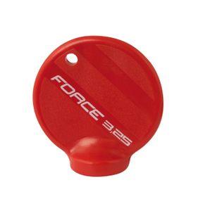 FORCE Speichenschlüssel Kunststoff für Speichen Nippel 4 Kant Stahl Einlage 3.25mm rot