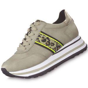 TAMARIS Damen Plateau Sneaker Beige/Leoprint, Schuhgröße:EUR 38
