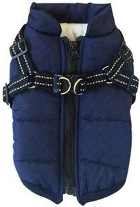 Hundejacke Winterweste Jacken Hundemantel Hundepullover Haustier Skifahren Kostüm Ärmellose Baumwolle Gepolsterte Weste Mit Brustgurt Gurt
