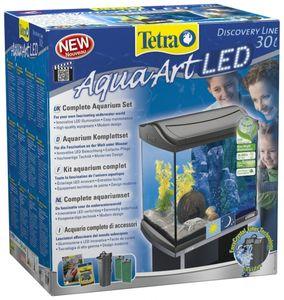 Tetra AquaArt LED Aquarium-Komplettset für Krebse, 30 L, Anthrazit
