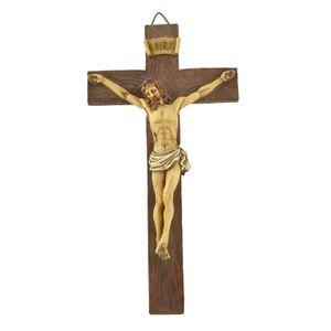 Harz Kruzifix Jesus Christus auf Die Stand Kreuz Figurine für Home Kapelle Ornament