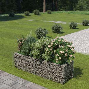Gabionen-Hochbeet Garten-Hochbeet Hochbeet Verzinkter Stahl 180×50×50 cm