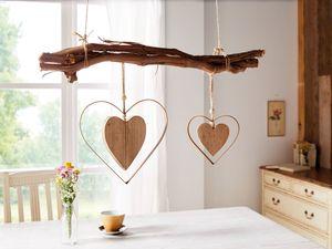 Deko-Hänger 'Herz in Herz', 2er Set Fenster Deko Liebe aufhängen Terrasse Balkon