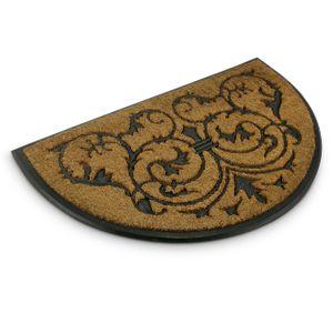 relaxdays Fußmatte Kokos halbrund 60x100 cm