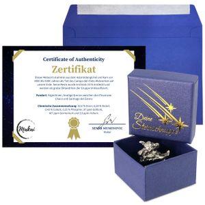 Makai echter Meteorit ca. 15 Gramm Sternschnuppe mit Echtheits-Zertifikat Geschenkkarte Box individueller personalisierbarer Karte mit Widmung (Echtheitszertifikat)