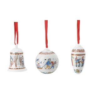 Glocke + Kugel + Zapfen 2021 Weihnachtsgaben - Hutschenreuther - Porzellan Weihnachten