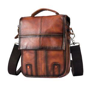 Herren Umhängetasche Echtes Leder Crossbody-Bag Herrenhandtasche Urban Casual