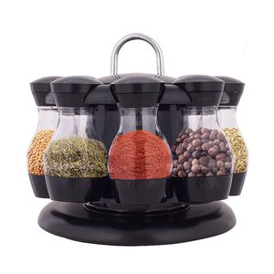 8 drehbar Gewürzregal Gewürzständer Küche Gewürzkarussell Gewürzebehälter