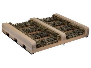 """Schuhputzer / Schuhabstreifer """"LOGAN NATUREstyle"""" (36x27x5) von kaufMAX - der perfekte Fussabtreter aus Buche mit PVC-Borste für innen und außen in"""