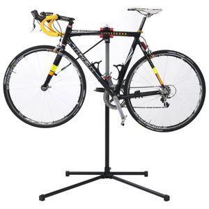 Fahrrad-Reparaturständer 104 x 68 x (110-190) cm Stahl Schwarz