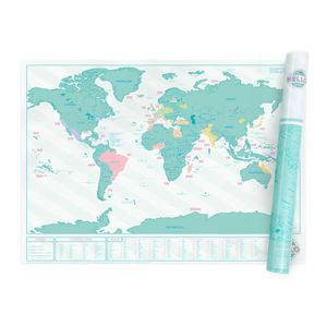 Luckies Scratch Map Hello Weltkarte