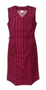 Damenkittel Baumwolle ohne Arm Kittel Schürze Knopfkittel bunt Hauskleid, Größe:54, Design:Design 1