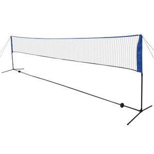 vidaXL Badmintonnetz mit Federbällen 600x155 cm