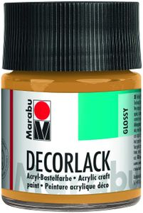 "Marabu Acryllack ""Decorlack"" metallic gold 50 ml im Glas"