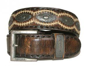 Sendra Leder Gürtel 7606 braun-antik, Länge:95 cm