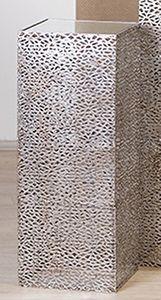 Casablanca Säule Purley Metallant.silb.H.70cm 27x27cm 74209