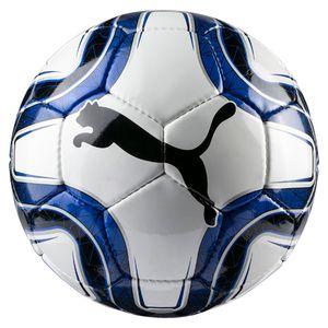 PUMA FINAL 5 HS Trainer Ball Weiss-Team Power Blau-Schwarz, Größe:5