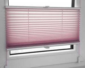 Plissee Faltrollo inkl. Klemmträger rosa 75x120 cm Jalousie